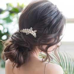 Hiuskoru, ATHENA BRIDAL JEWELLERY|Pearl Shimmer Hair Comb in Gold