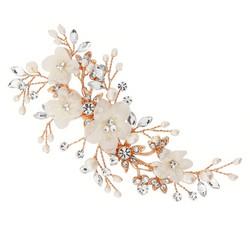 Hiuskoru, ATHENA BRIDAL Carrie Floral Romantic Headpiece (Rosegold)