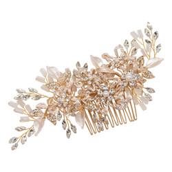 Hiuskoru, ATHENA BRIDAL|Enchanting Floral Hair Comb (Rosegold)