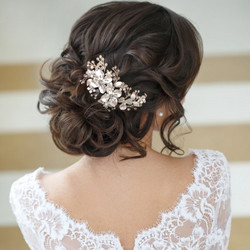 Hiuskoru, ATHENA BRIDAL JEWELLERY|Exquisite Floral Hair Comb