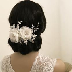 Hiuskoru, ATHENA BRIDAL|Blossom Headpiece - Luxe Crystal Hair Comb
