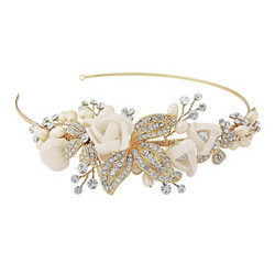 Hiuskoru, ATHENA BRIDAL|Clara Romantic Headband 14K Gold Plated