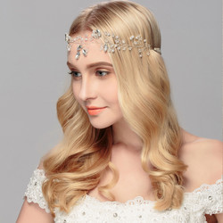 Hiuskoru, panta/ROMANCE, Delicate Pearl Headpiece with Crystals