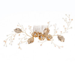 Hiuskoru/ROMANCE,  Dreamy Headpiece in Warm Gold