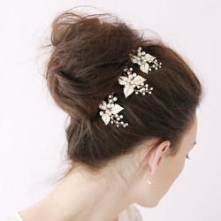 Hiuskoru, hiuskampa/ROMANCE, Beautiful Pearls in Gold