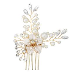 Hiuskoru, hiuskampa/ROMANCE, Romantic Champange Flower in Gold