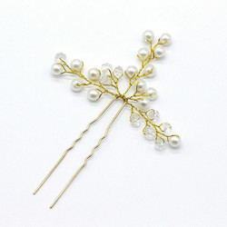 Hiuskoru, hiuskampa/ROMANCE, Delicate Hairpiece in Gold