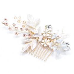 Hiuskoru, hiuskampa/ROMANCE, Pink Champange Flowers in Rosegold