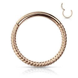 Lävistysrengas, Segment Hoop Rings Braided Steel RG