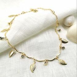 Nilkkakoru HOLIDAY COLLECTION/Gold Anklet with Leaf Decoration