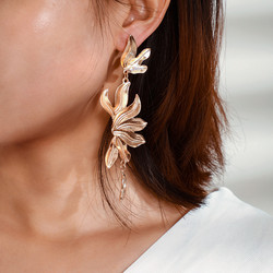 Statement-korvakorut, Large Jungle Earrings in Gold