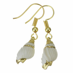 Korvakorut, PAPARAZZI|Small Seashell Earrings