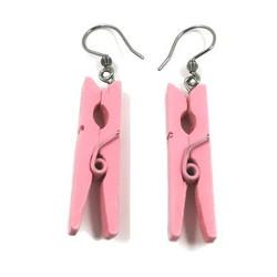 Puiset korvakorut, Pink Clothes Peg