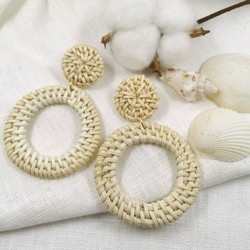 Rottinkorvakorut, Big Simple Rattan Earrings
