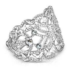 Korvakoru/kiipijä, Non-Piercing Filigree Butterfly in Silver