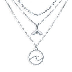 Kerroskaulakoru, FRENCH RIVIERA|Ocean Necklace in Silver