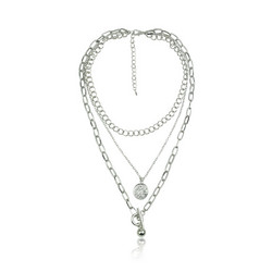 Kerroskaulakoru, FRENCH RIVIERA|Simple Layer Necklace in Silver