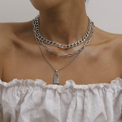 Kerroskaulakoru, FRENCH RIVIERA|Chunky Layer Necklace in Silver