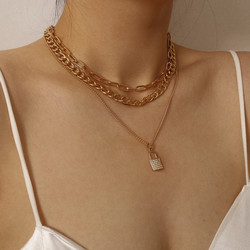 Kerroskaulakoru, FRENCH RIVIERA|Chunky Layer Necklace in Gold