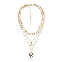 Kerroskaulakoru, FRENCH RIVIERA|Stylish Layer Necklace in Gold