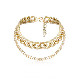 Kerroskaulakoru, FRENCH RIVIERA|Saint Tropez Layer Necklace in Gold