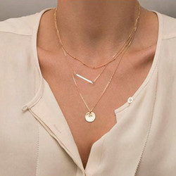 Kerroskaulakoru, FRENCH RIVIERA|Simple Layer Necklace in Gold