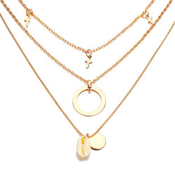 Kerroskaulakoru, FRENCH RIVIERA|Summer Layer Necklace in Gold