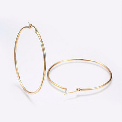 Kirurginteräsrenkaat, Classic Thin Steel Hoops in Gold