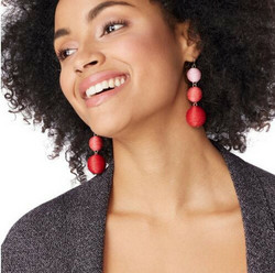 Korvakorut, Classic Retro Inspired Earrings in Red