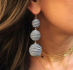 Korvakorut, Classic Retro Inspired Earrings with Stripes
