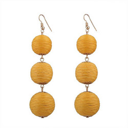Korvakorut, Classic Retro Inspired Earrings in Yellow