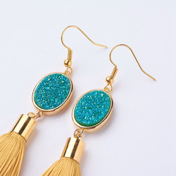 Korvakorut, FRENCH RIVIERA|Tassel Earrings in Gold
