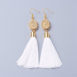 Korvakorut, FRENCH RIVIERA|Tassel Earrings in White