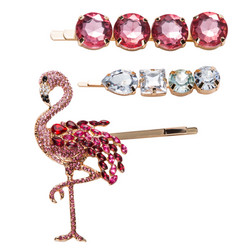 Hiuskoru, pinni|SUGAR SUGAR, Pink Flamingo Clip Set