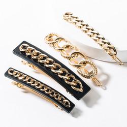 Hiuskoru, pinni|SUGAR SUGAR, Gold Chain Clip Set