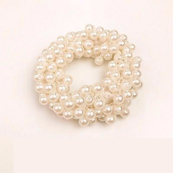 Donitsi/Scrunchie|SUGAR SUGAR, Pearls in White-scrunchie