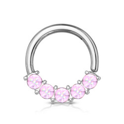 Lävistysrengas 1,2mm, Illuminating Front Facing Hoop Ring in L. Purple