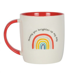 Muki, Mummy You Brighten Up My Day Rainbow Mug