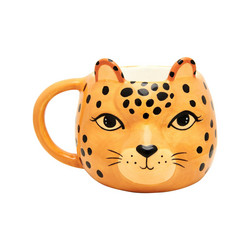 Muki, Sass & Belle|Leopard Love Shaped Mug