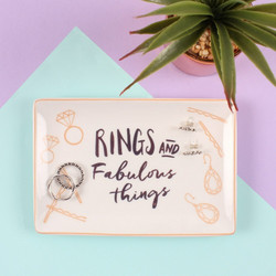 Säilytysastia/Trinket Dish, Rings and Fabulous Things