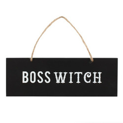 Seinäkyltti, Boss Witch Wall Sign
