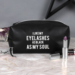 Meikkipussi, As Black As My Soul Makeup Bag