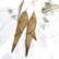 LEMPI-korvakorut, Siivet 2.0. (kulta, nahka)