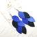 LEMPI-korvakorut, Vilja (sininen, matta-glitter yhdistelmä)