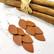 LEMPI-korvakorut, Vilja (konjakinruskea nahka)