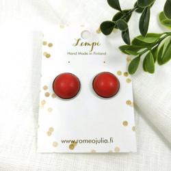LEMPI-korvanapit, Veera 2.0 (puolukan punainen, puinen)
