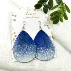 LEMPI-korvakorut, Lumipyry (sininen, puu)
