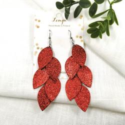 LEMPI-korvakorut, Vilja (punainen glitter)