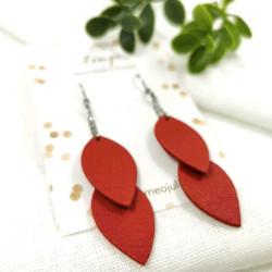 LEMPI-korvakorut, Lehdet (punainen, siro 2-os)