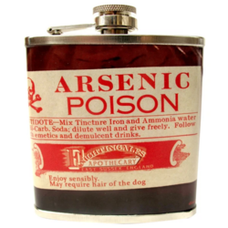 Taskumatti, House of Disaster|Apothecary Arsenic Hip Flask